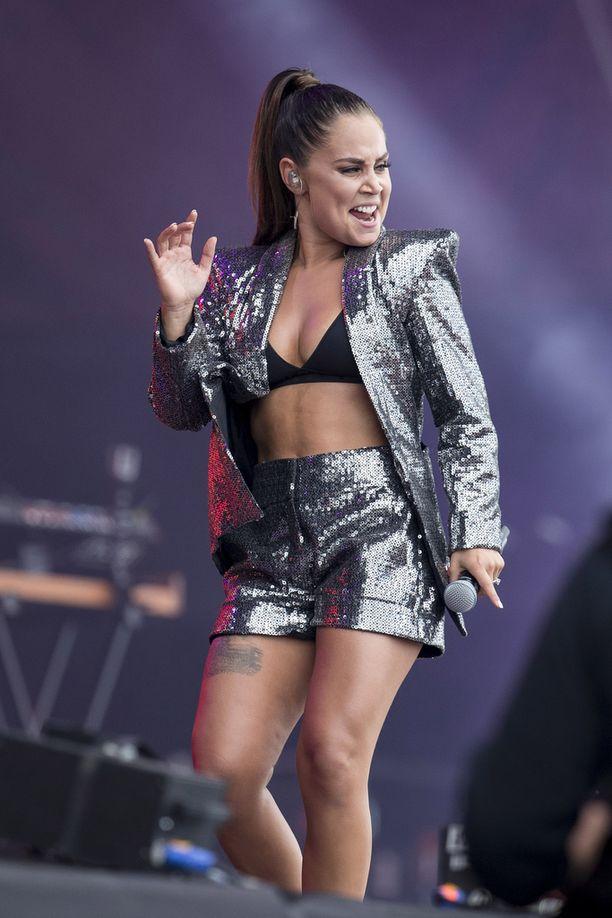 Anna Abreu antoi lavalla kaikkensa.