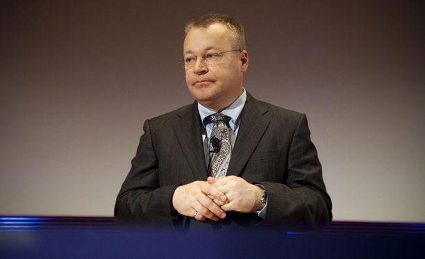 Nokian toimitusjohtaja Stephen Elop lehdistötilaisuudessa Espoossa.
