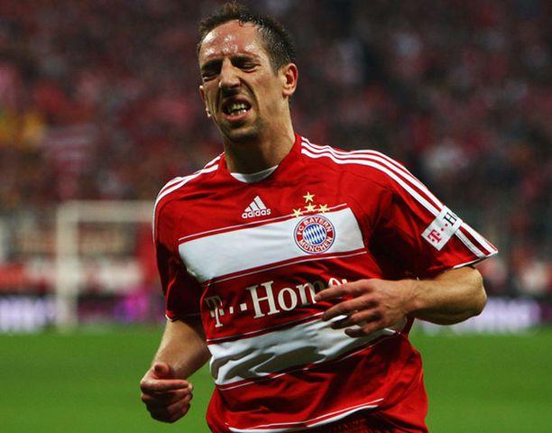 Franc Ribery siirtyi vuonna 2007 Marseillesta Bayern Müncheniin.