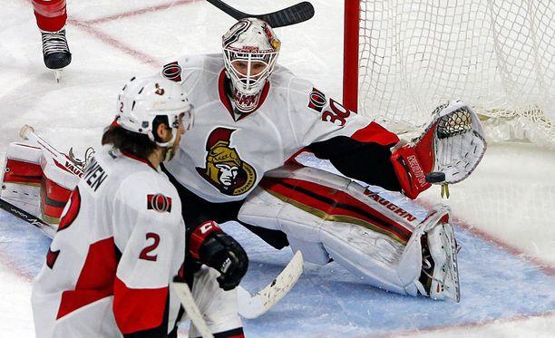 Andrew Hammond on ollut loistava Ottawan maalilla.