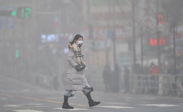 Savusumua Qingdaossa Shandongin maakunnassa.
