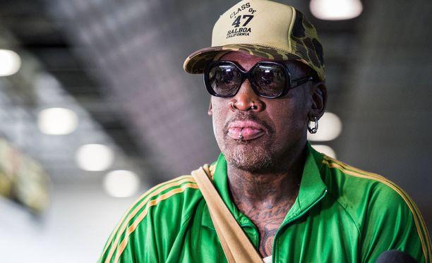 Dennis Rodman törttöili liikenteessä.