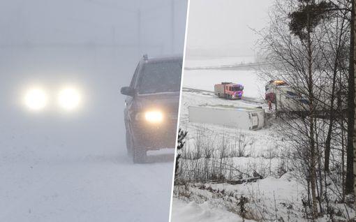 IL seuraa lumipyryä: Porissa kuolemaan johtanut liikenneonnettomuus – ajokeli edelleen erittäin huono