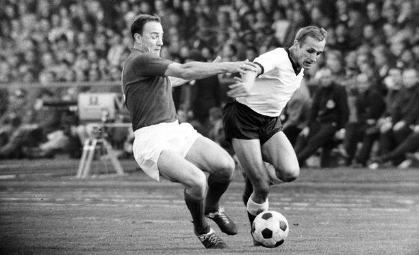 George Cohen oli voittamassa Englannille jalkapallon maailmanmestaruutta vuonna 1966.