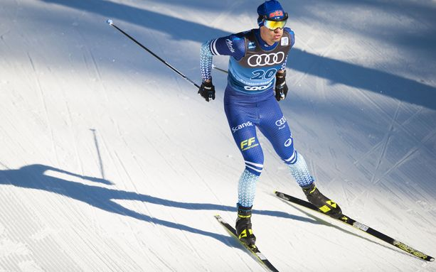 Perttu Hyvärinen oli viidestoista tiistaina Toblachissa Tour de Skillä.
