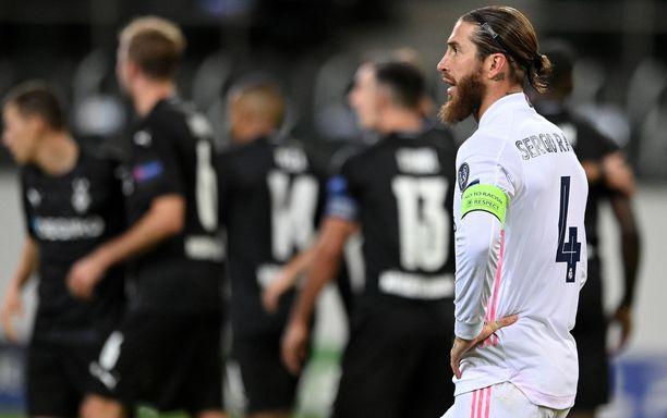 Sergio Ramos ja Real Madrid olivat Saksassa hätää kärsimässä.