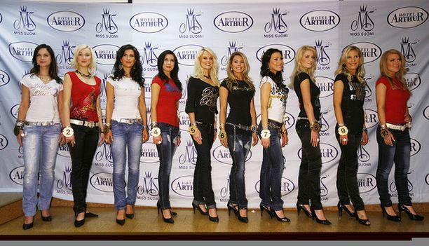 Miss Suomi -finalistit julkistettiin Hotelli Arthurissa Helsingissä.