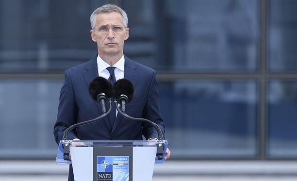 Naton pääsihteeri Jens Stoltenberg Brysselissä.