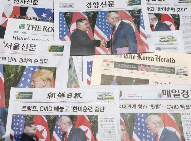 Etelä-Koreassa valtaosa lehdistöstä piti huippukokousta epäonnistumisena. Pohjois-Koreassa tapaaminen nähtiin suurena voittona.