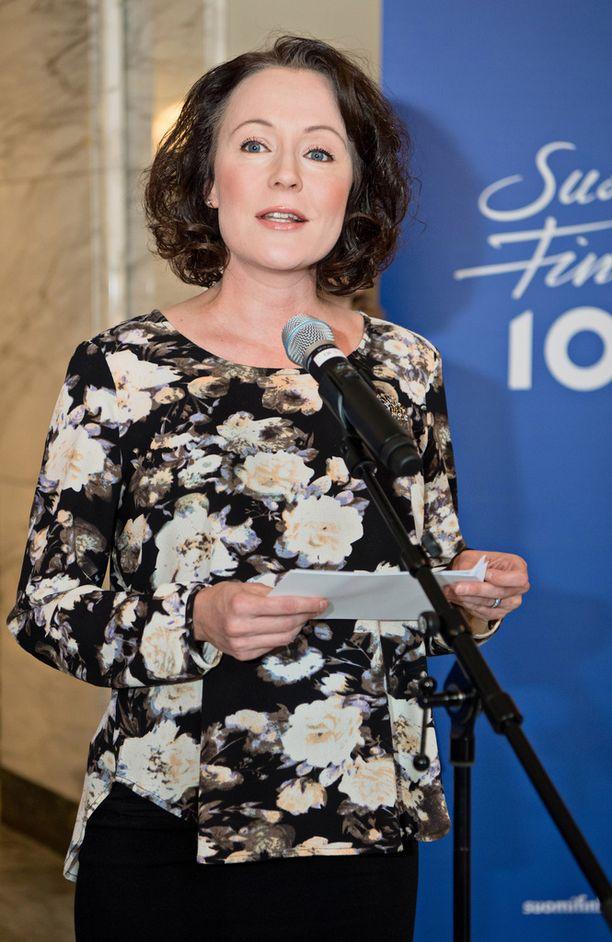 Jenni Haukio toimii 100vision valtakunnallisen raadin puheenjohtajana.
