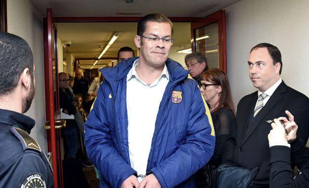 Ilja Janitskin on edelleen vangittuna Helsingin käräjäoikeuden päätöksellä. Kuva on Andorran oikeudenkäynnistä.