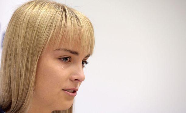 Kiira Korpi kertoi lopettavansa kilpauransa Helsingissä järjestetyssä lehdistötilaisuudessa.