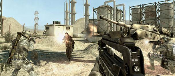 Call of Dutyn kaltaisten räiskintäpelien pelaaminen nopeuttaa havainnointia ja reagointia. Kuva pelistä Call of Duty: Modern Warfare 2.