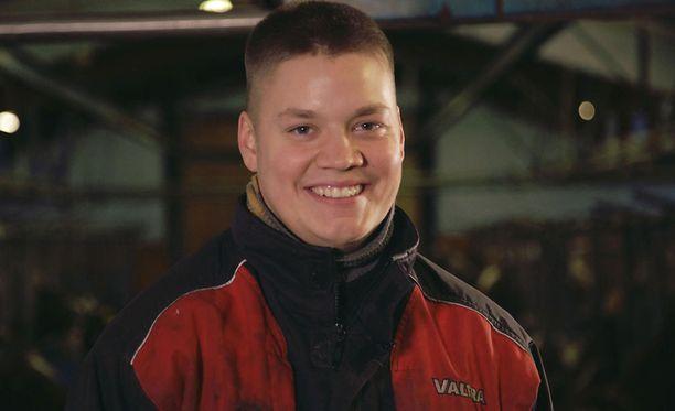 23-vuotias Tero on maatilan isäntä Merikarvialta.