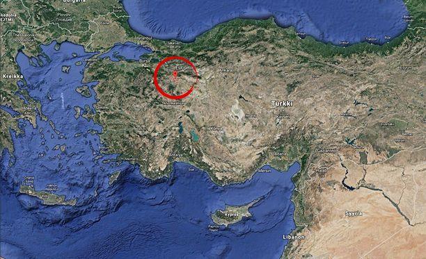 Eskisehir sijaitsee noin 250 kilometrin päässä pääkaupunki Ankarasta länteen.