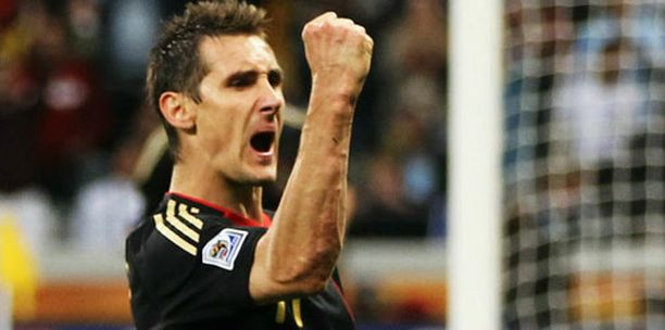 Miroslav Klose on nyt 14 MM-maalissa.