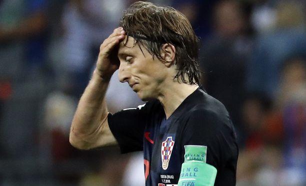 Luka Modric uurasti valtaisat kilometrimäärät Kroatian keskikentällä.