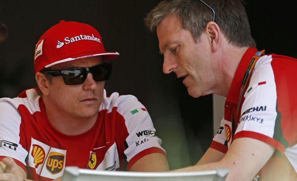 Kimi Räikkönen ja James Allison tekivät läheistä yhteistyötä.