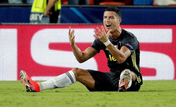 Cristiano Ronaldo ei sulattanut ulosajotuomiota.