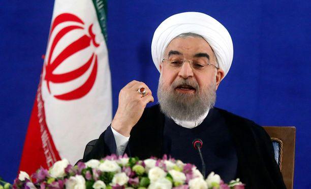 Iranin presidentin Hasan Ruhanin mukaan Trumpin vierailu Saudi-Arabiaan oli vain show.