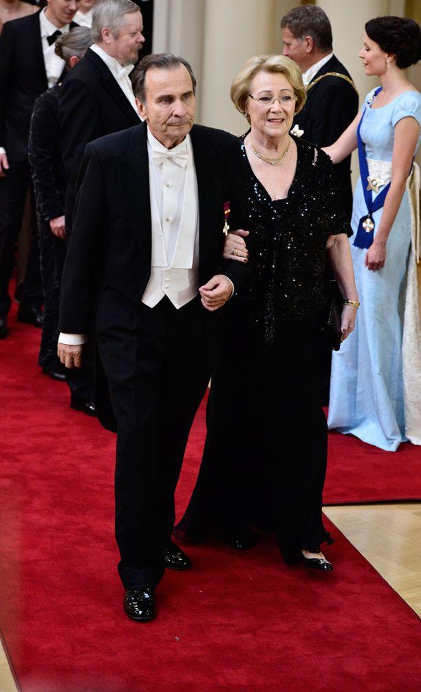 Vuonna 2014 Reijo Taipale sai kutsun Linnan juhliin Anita-vaimonsa kanssa.