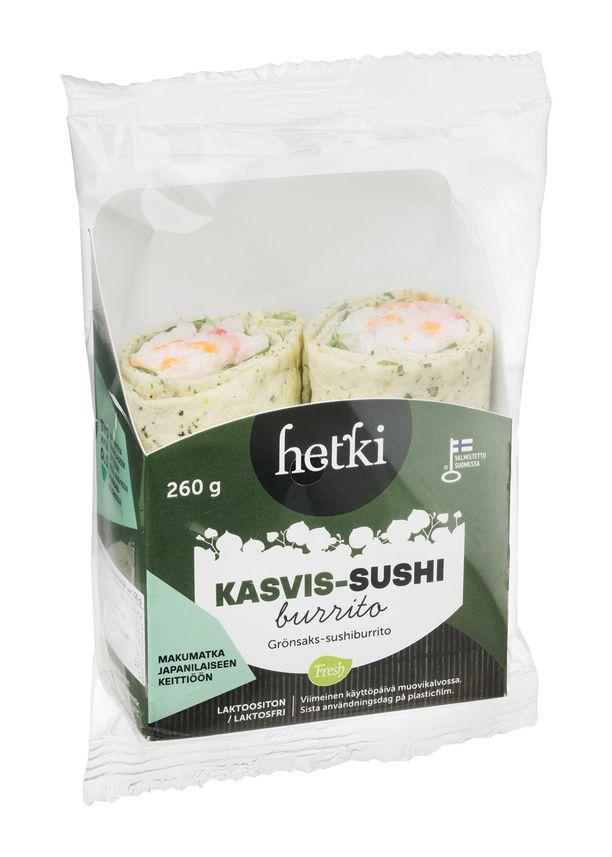 Kasvis-sushiburrito yllättää varmasti vannoutuneenkin lihansyöjän. Kannattaa kokeilla.