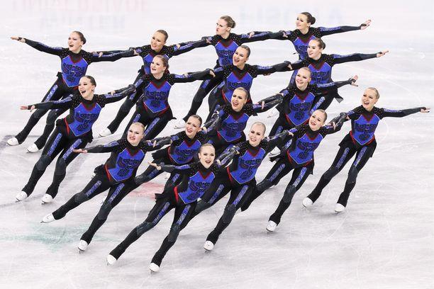 Marigold Ice Unity voitti MM-hopeaa Helsingissä. Kuva Krasnojarskin talviuniversiadeista kuukauden takaa.