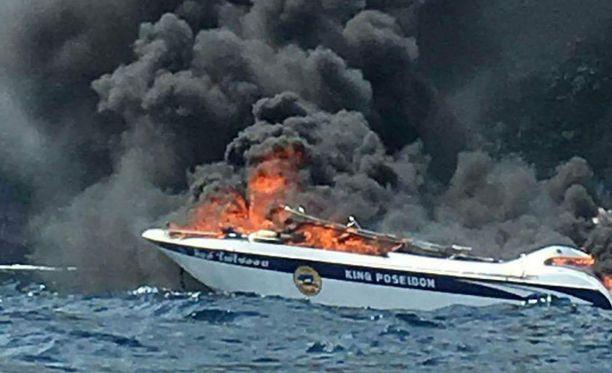 Räjähdys tapahtui Phi Phi Le -saaren edustalla Etelä-Thaimaassa.