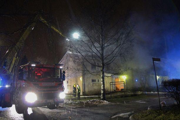 Tulipalo sai alkunsa saunasta.