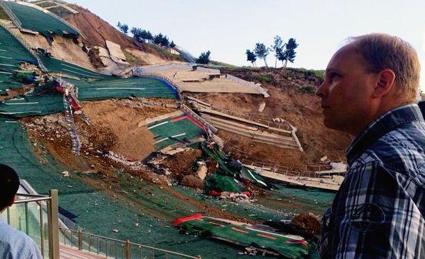 Pekka Niemelän työpaikka Erzurumissa romahti vuonna 2014 maanvyöryssä.