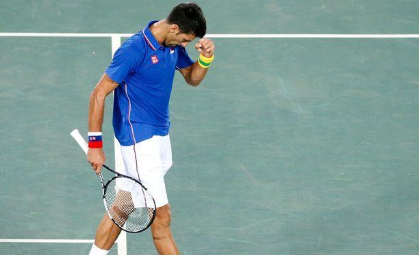 Taas tässä kävi näin! taitaa Novak Djokovic tuumia.
