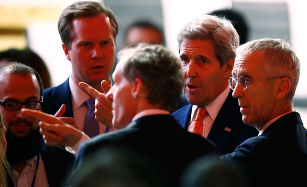 Myös Yhdysvaltain ulkoministeri John Kerry osallistui ilmastokokoukseen.