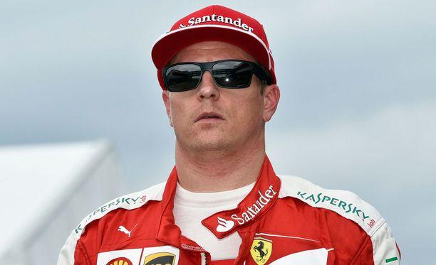 Kimi Räikkönen jäi aika-ajossa viidenneksi.