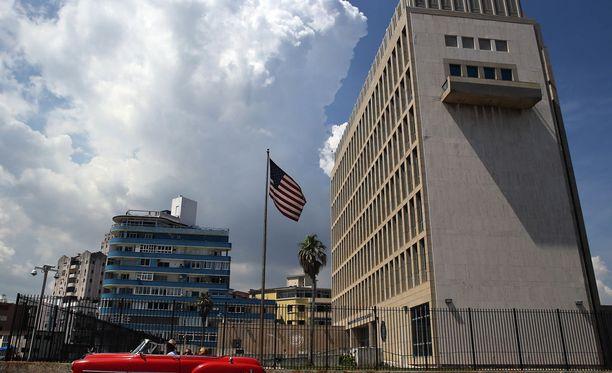 Yhdysvaltojen Kuuban lähetystö kuvattuna Havannassa kesäkuussa 2017.