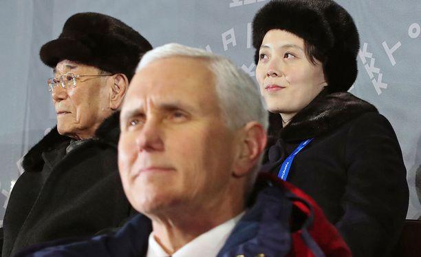 USA:n varapresidentti Mike Pence ei juuri veljeillyt Kim Yo-jongin kanssa.