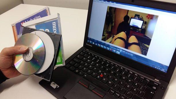 Raiskaaja oli tallentanut kuviaan tietokoneelleen ja cd-levykkeille. Kuvituskuva.