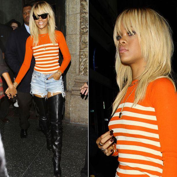 Rihanna muutti jälleen hiustyyliään.