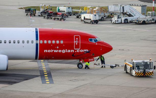 Norwegian on joutunut koronapandemian alun jälkeen pitämään valtaosan laivastostaan maassa. Kuvituskuva.