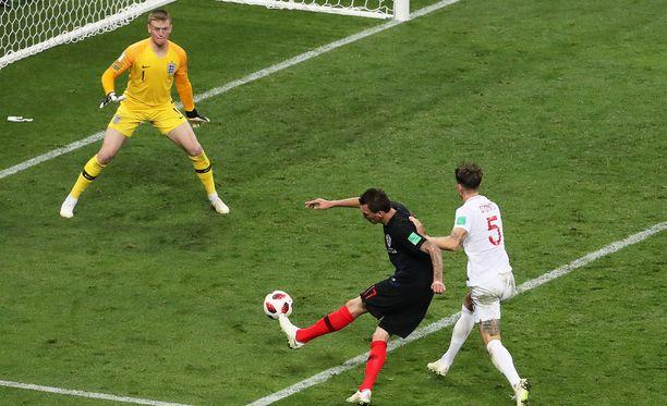 Tällä maalilla Kroatia meni MM-loppuotteluun.