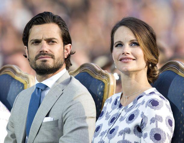 Kesä 2017 ennen prinssi Gabrielin syntymää. Pariskunnan toinen poika syntyi 31. elokuuta 2017.