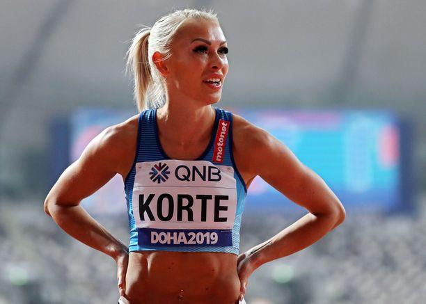 Annimari Korte aitoi viime vuonna Dohan MM-kisoissa välieriin.