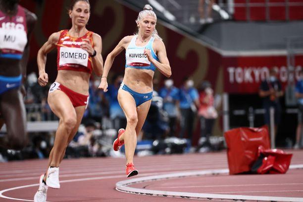 Sara Kuivisto teki uuden SE:n olympialaisten 800 metrin välierässä.