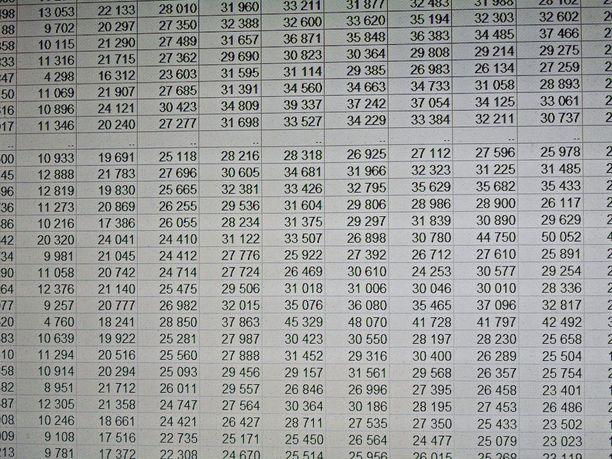 Moni näkee punaista pelkästä Excel-taulukon avaamisesta.