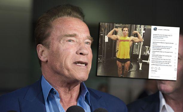 Arnold Schwarzeneggerin poika Joseph Baena esitteli salitreeninsä tuloksia sosiaalisessa mediassa.