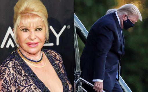 """Ivana Trump pelkää koronaa sairastavan ex-miehensä Donald Trumpin puolesta: """"Hän oli huolimaton"""""""