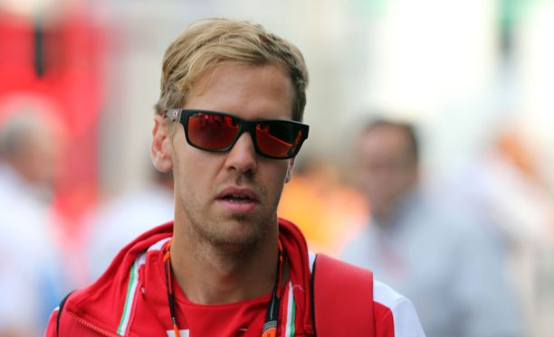 Sebastian Vettel oli perjantain kolmanneksi nopein kuski Monzassa.