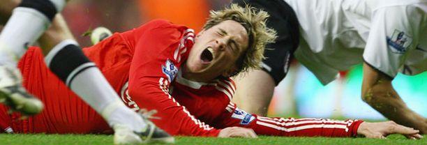 Fernando Torresin loukkaantuminen heittää synkän varjon Liverpoolin mestaruushaaveiden ylle.
