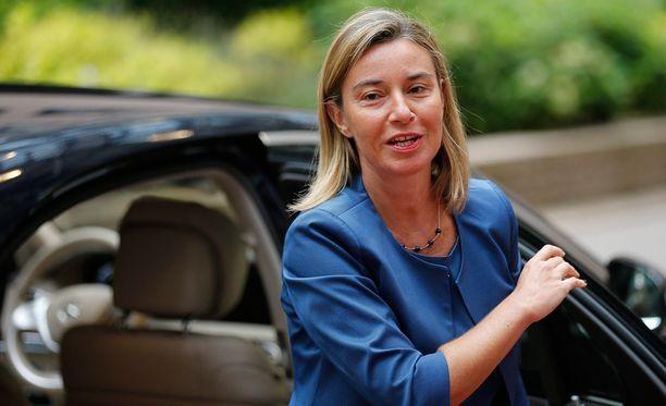 Federica Mogherini johtaa Euroopan ulkosuhdehallintoa.