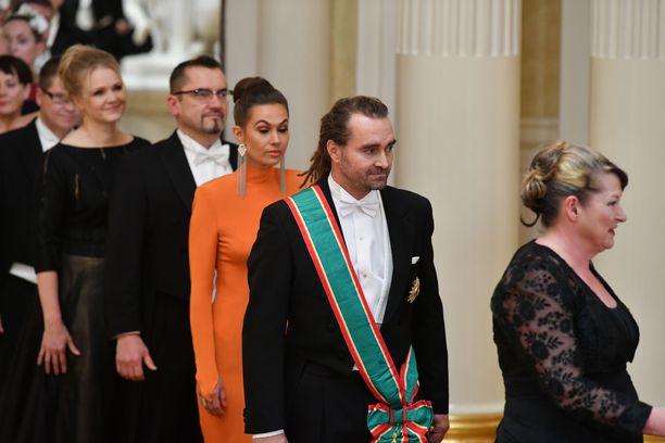 Krista ja Mikko Paasi edustivat tyylikkäinä.