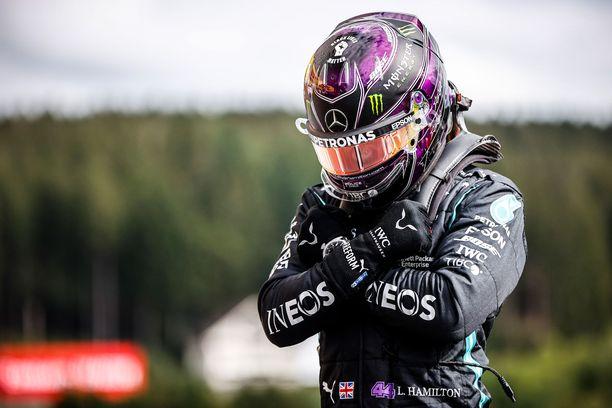 Lewis Hamilton oli omassa kastissaan Belgian GP:n aika-ajoissa.